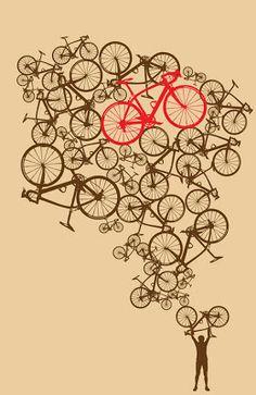 Items op Etsy die op 11 x 17 Illustrated Stacked Bikes Print lijken Bike Design, Design Art, Velo Biking, Bicycle Tattoo, Bicycle Illustration, Bike Poster, Bicycle Print, Cycling Art, Cycling Quotes