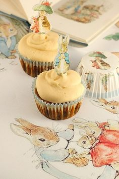 Carrot Cake Cupcakes, perfect for Easter (Peter Rabbit, Martha Stewart)