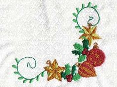 Christmas Ornaments Machine Embroidery Designs http://www.designsbysick.com/details/christmasornaments