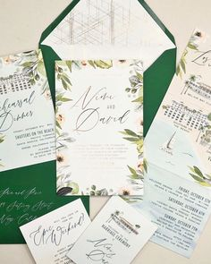 Nimi + David's suite really brought those garden vibes! We included beautiful watercolor greenery and florals and added pops of gold foil… Santa Dress, Go Green, Bel Air, Greenery, Pixie, Marriage, Bring It On, Watercolor, Pop