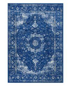 Another great find on #zulily! Dark Blue Verona Rug #zulilyfinds