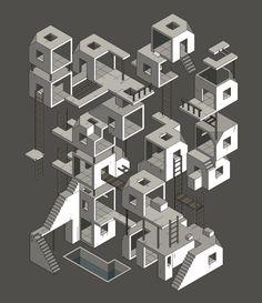 Sad City by Miquel Tura Rigamonti, via Behance
