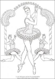 difficult coloring page of ballerina dancer for older kids