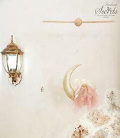 Fairy, Moon, Baby Mobile, Stars, Baby Girl, Baby Room, Handmade Baby Mobile, Floating Moon, Nursery, Girl's Baby Mobile, Decoration