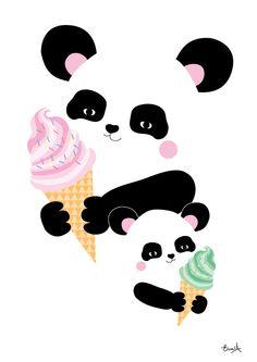 panda glass | elina studio - grafiska tryck till barnrummet