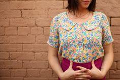 ADA SPRAGG | Not Your Nanna's Sewing | DIY Peter-Pan Blouse + Pencil Skirt using Megan Nielsen Banksia Blouse pattern + Burdastyle Jenny Skirt pattern #sewing #diy #pencilskirt #floral