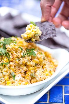 Mexican Street Corn Dip is everyone's favorite elote dip recipe and is perfect for a backyard BBQ, picnic, or any taco Tuesday! Mexican Appetizers, Mexican Food Recipes, Appetizer Recipes, Dip Appetizers, Spanish Recipes, Holiday Appetizers, Dinner Recipes, Mexican Corn Dip, Mexican Street Corn Salad