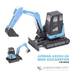 Airman AX55U-6A Mini Excavator paper model