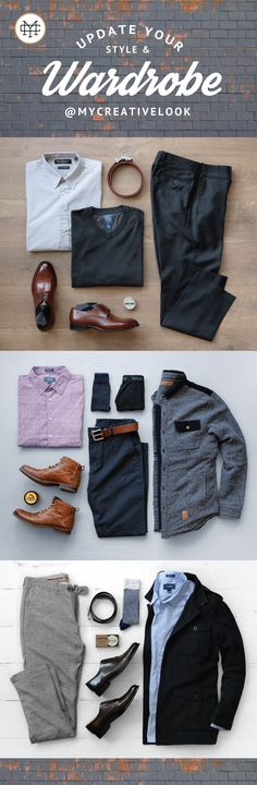 Update Your Style & Wardrobe by checking out Men's collections from MyCreativeLook | Classy Attire | Outfits | Winter Fashion | Boots, Sneakers, Dress Shoes and more. Visit mycreativelook.com #wardrobe #mensfashion #mensstyle #menswear #mensclothing