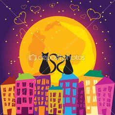 Ночной город — Stock Illustration #8510097