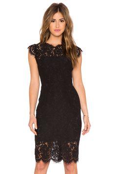 RACHEL ZOE Suzette Lace Mini Dress em Preto | REVOLVE