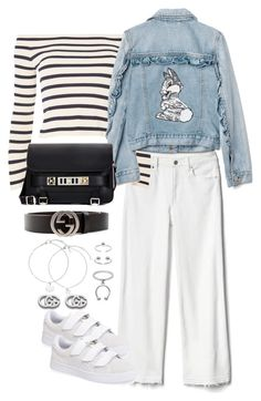 """""""Untitled #4436"""" by theeuropeancloset ❤ liked on Polyvore featuring Gap, Puma, Topshop, Disney, Proenza Schouler, Gucci and Maria Francesca Pepe"""