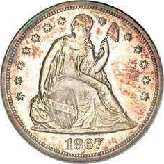 1867 Seated Liberty Dollar