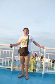 on board (MV transasia) bound to cebu