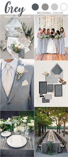 Gray wedding color ideas wedding colors 30 + Grey Wedding Color Ideas You'll Love Grey Wedding Theme, Wedding Color Pallet, Gray Wedding Colors, Popular Wedding Colors, Western Wedding Dresses, Wedding Color Schemes, Wedding Themes, Wedding Table, Dream Wedding