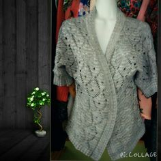 NAME YOUR PRICEGray cableknit sweater Adorable grey 3/4 length sleeves cable knit cardigan Apt. 9 Sweaters
