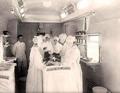 Vagón de tren quirófano de la Cruz Roja Americana (1917)