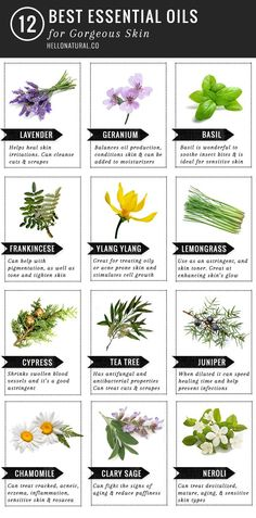 12 Best Essential Oils for Gorgeous Skin Read more at http://hellonatural.co/12-best-essential-oils-gorgeous-skin/#WiCD4oi24qzueC5W.99
