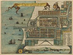 Old Batavia city plan by Montanus cartography antique books art gallery store shop Jakarta Kemang item Indonesia South East Asia East Indies Dutch Indies Maluku Islands, Asia Map, East India Company, Dutch East Indies, Island Map, Dutch Colonial, Historical Maps, Antique Maps, Vintage World Maps