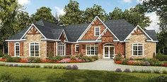 Craftsman House Plan Front of Home for Home Plan also known as the Pendleton Creek Rustic Home from House Plans and More. House Plans One Story, House Plans And More, Best House Plans, House Floor Plans, One Level House Plans, Suite Principal, Rustic House Plans, Craftsman Style House Plans, Craftsman Homes