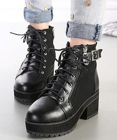 2c1ce24e9ef9 Find More Boots Information about buckle motorcycle pumps platform shoes  woman high heels girls martin booties