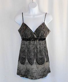 EXPRESS Juniors Babydoll Sequin Tank Top Size Small (S) New