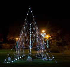 Christmas decorations in park, Bucharest, Romania