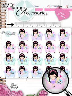 Sticker - Emely Buch lesen Sticker NR994 - ein Designerstück von PlannerAccessories bei DaWanda