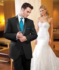 Absolutely Fitting | Orlando | Tuxedo | Wedding | Teal | Blue | Aqua | Groom