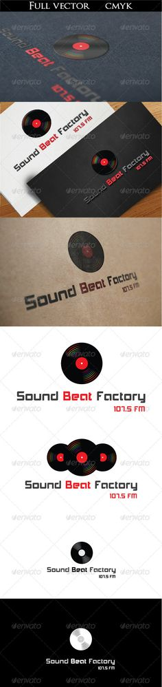 Sound Beat Factory Logo — Vector EPS #party #red • Available here → https://graphicriver.net/item/sound-beat-factory-logo/2398565?ref=pxcr