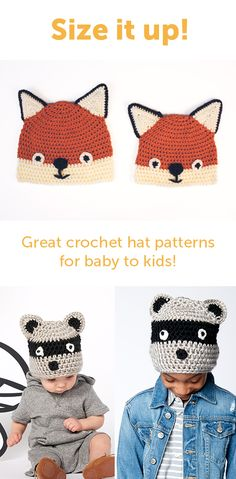 Now on the blog - Crochet hats from baby to kids! Free pattern from Yarnspirations!