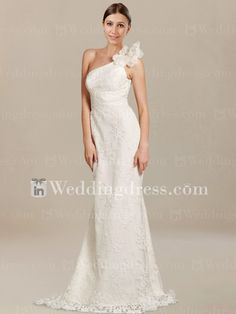 Shop elegant lace one shoulder wedding dresses to have an ideal look for the memorable wedding.