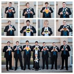 Share the true identity of your groomsmen and bridesmaids with a hero themed wedding photoshoot!