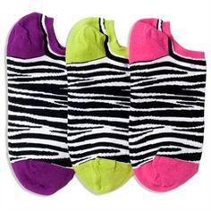 Zebra & Stripe Reversible Liner Socks