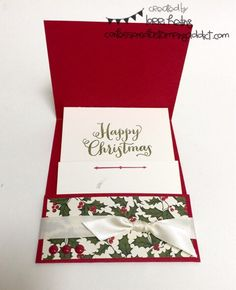 Holiday Extravaganza Project #3 :: Confessions of a Stamping Addict Gift card holder Lorri Heiling Stampin' Up