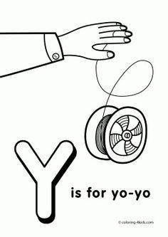 Y Letter Coloring Pages Of Alphabet Words For Kids Printable