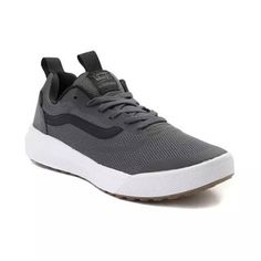 Find the UltraRange Rapidweld Skate Shoe from Vans at Journeys! This new line of sneakers blends Trainer with Skate Shoe featuring a Lightweight mesh upper. Shop the Gray/Black Vans Ultrarange Rapidweld now! Vans Socks, Air Max Sneakers, Sneakers Nike, Black Vans, Kinds Of Shoes, Shoe Storage, Skate Shoes, Shoe Game, Shopping