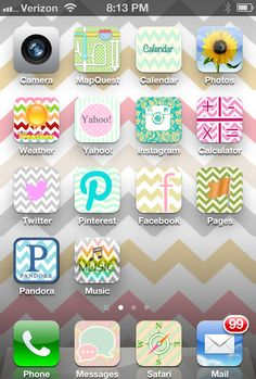 Make your iphone an extension of you by personalizing it with pretty icons! {My House and Home}