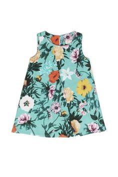 I'm so glad floral print dresses are so in! I love them so much and am totally stocking her wardrobe with things like this! Fashion Kids, Little Fashion, Girl Fashion, Zara Kids, Frocks For Girls, Little Girl Dresses, Baby Dress Patterns, Baby Kids Clothes, My Baby Girl