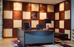 mahogany and maple checkerboard paneling