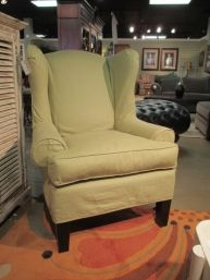 Slipcverd Wingback Chair $285