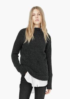 Pullover mit hohem kragen - Cardigans und pullover für Damen | MANGO