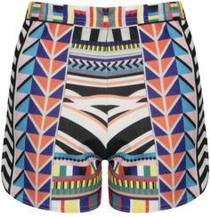 Love JLo Printed Tribal Shorts- Women's Clothing- Loveonlinefashion