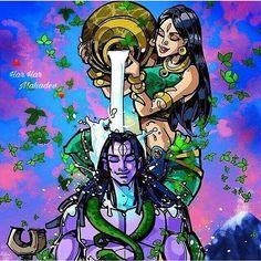 Shiva and shakti Shiva Parvati Images, Shiva Hindu, Shiva Art, Shiva Shakti, Hindu Deities, Hindu Art, Hindus, Indian Gods, Indian Art