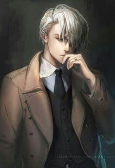 Anime - Yuri on Ice // Victor Nikiforov M Anime, Hot Anime Boy, Fanarts Anime, Cute Anime Guys, Anime Boys, Yuri!!! On Ice, Victor Nikiforov, Katsuki Yuri, Yuuri Katsuki