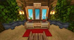 Someone told me I should post this here. A Minecraft vanity/dresser table! Minecraft Banner Designs, Minecraft Interior Design, Minecraft Banners, Minecraft Decorations, Minecraft Architecture, Minecraft Crafts, Minecraft Mods, Minecraft Plans, Cool Minecraft Houses