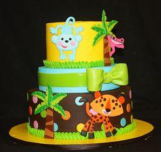 Baby Jungle Cake via Its A Piece Of Cake  Birthday cake???