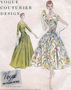 1950's vintage Vogue Couturier Design dress pattern 850