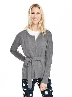 Todd & Duncan Belted Cashmere Open Cardigan Product Image