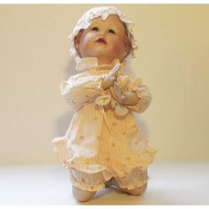 Emily from artist Yolanda Bello's Picture-Perfect Babies Porcelain Doll Collection - Ashton Drake - Knowles China 1991 Limited Edition || Available for sale via the pin's link.